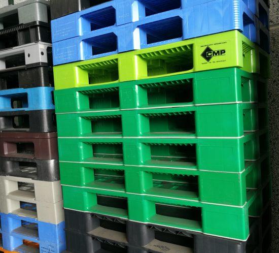 Pallet 1200×800 – Colori misti – 3 listelli